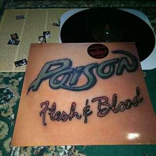 "Poison ""Flesh & Blood"" Vinyl LP Record"