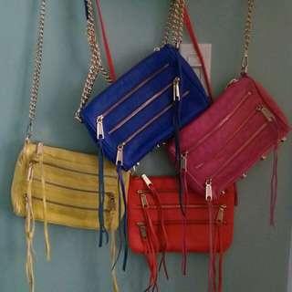 Rebecca Minkoff mini 5 zip cross-post bags