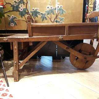 French farm wheel barrow