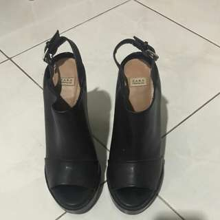 Zara angkle shoes heels original