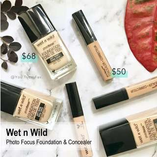 [現貨] Wet n Wild - Photo Focus Foundation / Concealer 粉底 / 遮瑕膏