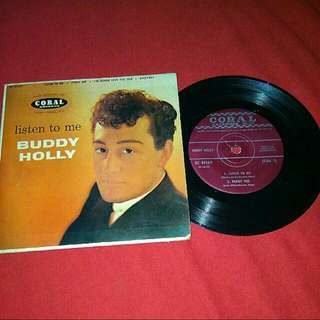 "(RARE) Buddy Holly ""Listen To Me"" Vinyl 7"" Record"