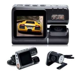 Dual Lens Front & Rear Car DVR Camera - with remote control