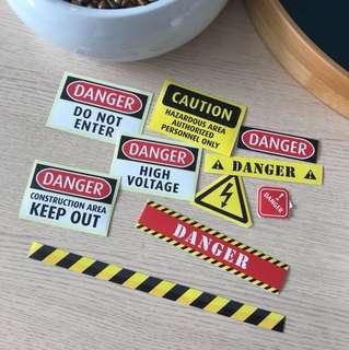 🧡PVC sticks warning set