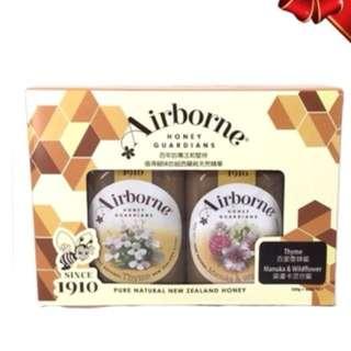新西蘭 AIRBORNE 百里香蜂蜜+麥蘆卡野花蜂蜜 (禮盒装)