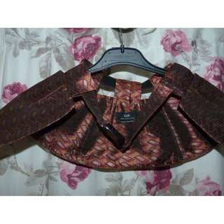 Cue size 6 tapestry peplum belt excellent - - - $35