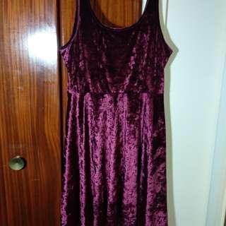 Velvet fit & flare dress