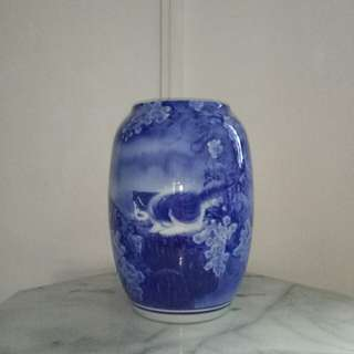 Vase With Artist Certificate height 33cm perfect condition