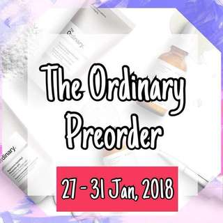 THE ORDINARY Preorder #4