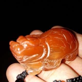红水晶(红兔毛)可爱小龙龟