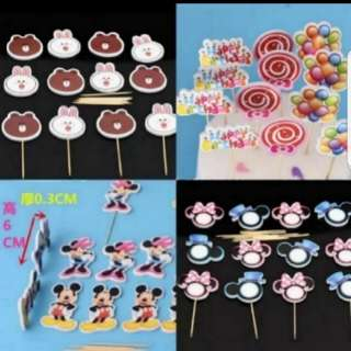 Cake/Cupcake/Muffin Toppers for Party Decoration Cake topper