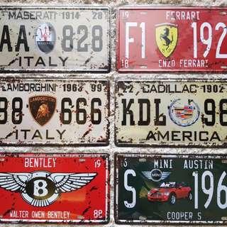 License Plate for Decor