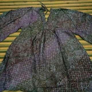 Batik Sutera Kerah V