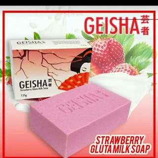 Geisha Strawberry Gluta Milk Soap