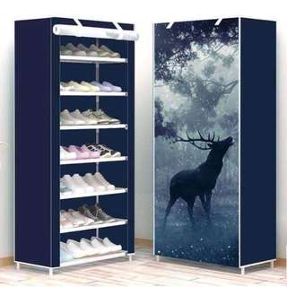 7 layers shoe rack cabinet organizer with dust cover