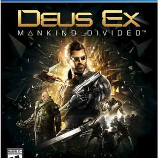 Deus Ex Ps4 New