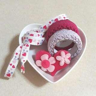 Valentine's Day craft materials