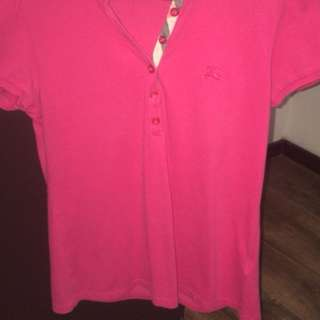 Burberry women polo tee