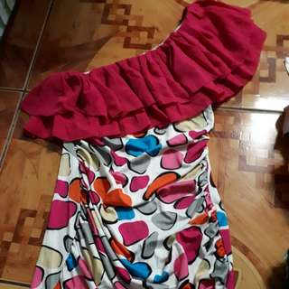 Off shoulder mini dress