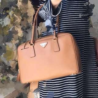 Classic Prada handbag in brown