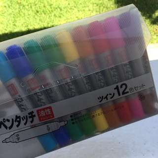 Japanese double ended Markers