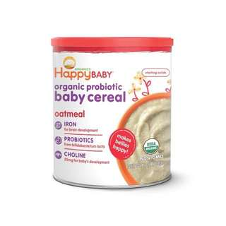 Happy baby cereal