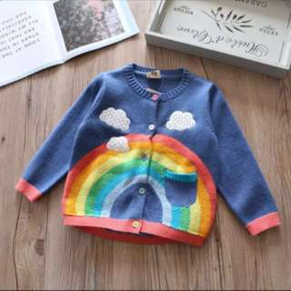 Rainbow sweater jacket