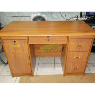 OFFICE TABLE WITH 2 FIXED CABINET--KHOMI