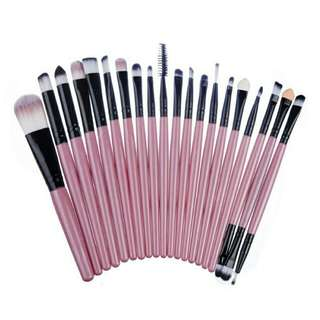 20 pcs. Makeup brush set