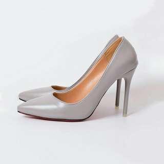 Grey Pumps heels stilleto