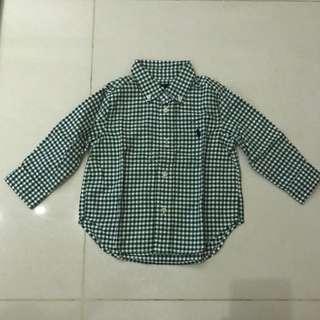 Green checkered Long sleeve shirt