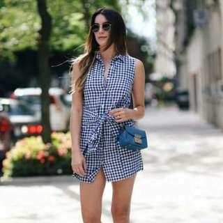 Plaid Bowknot Dress