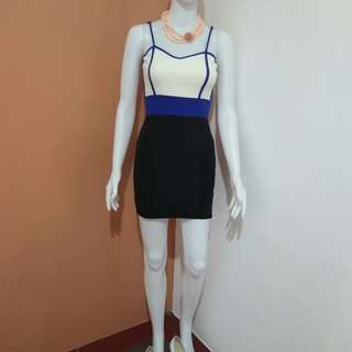 Blue and White Bodycon