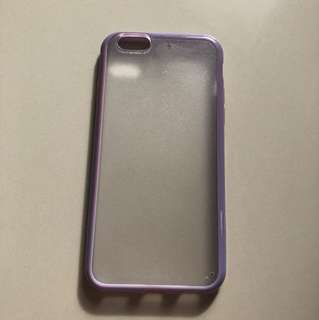 Purple Transparent Case for Iphone 6