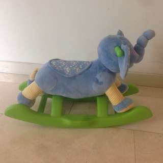 Rocking elephant chair