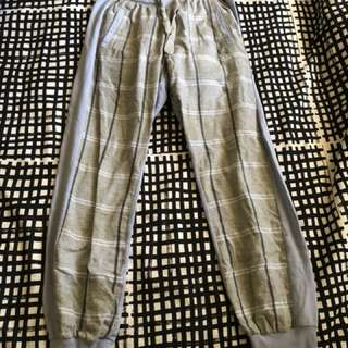 Peter Alexander blue/grey plaid track pants XS