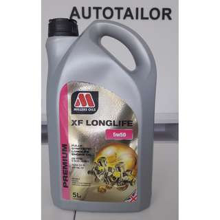 Millers Oils Fully Synthetic XF LONGLIFE 5W50 (5L)