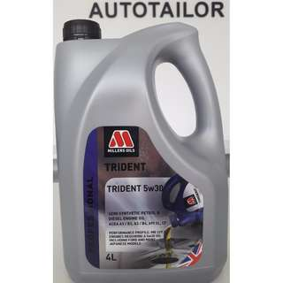 Millers Oils Trident Semi Synthetic 5W30 (4L)