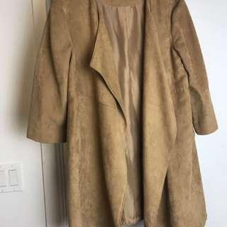 H&M Camel Faux Suede Jacket