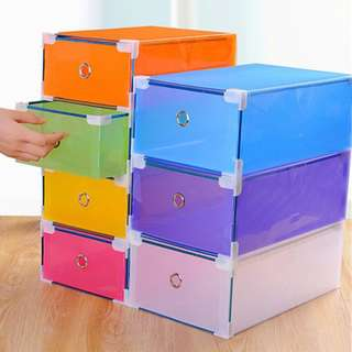Transparent Color Shoe Box