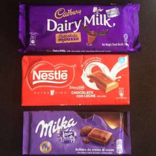 Cadbury Milka Nestle Chocolates
