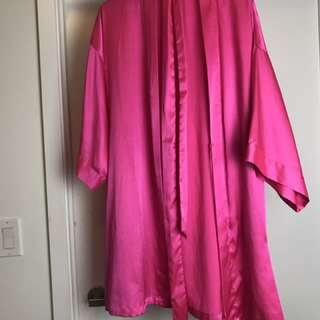 Victoria Secret Silk Pink Robe