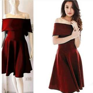 TK DRESS MACY RED