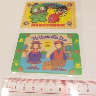 Sanrio ~ Nangyodon, The Vaudeville Duo磨沙膠咭,絕版20元1張包郵