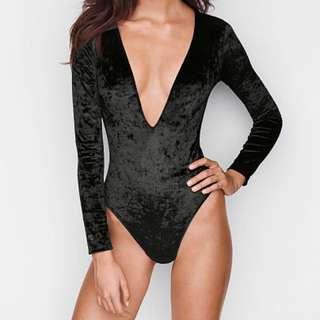 Victoria's Secret Velvet Plunge Bodysuit