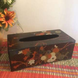 Vintage Japan made lacequer tissue box