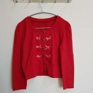 Red Outher-Cardigan