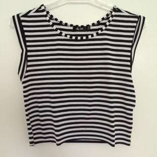 Stripy Crop Tee