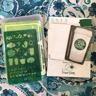 Starbucks 2018 Planner Small Green MEETUP or FREE SHIPPING