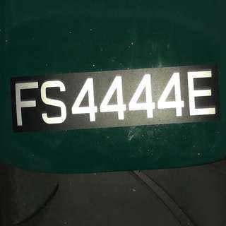 Bidded number for motorcycle FS plate. Collectible!